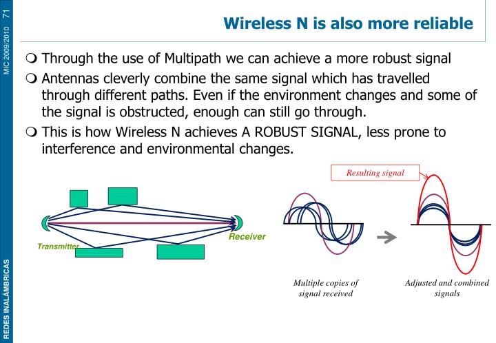 Wireless N is also more reliable