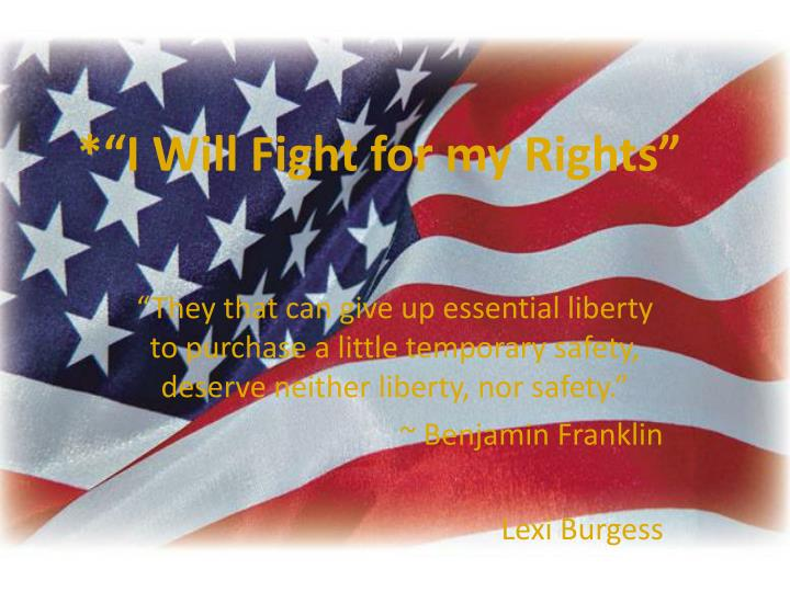 i will fight for my rights n.