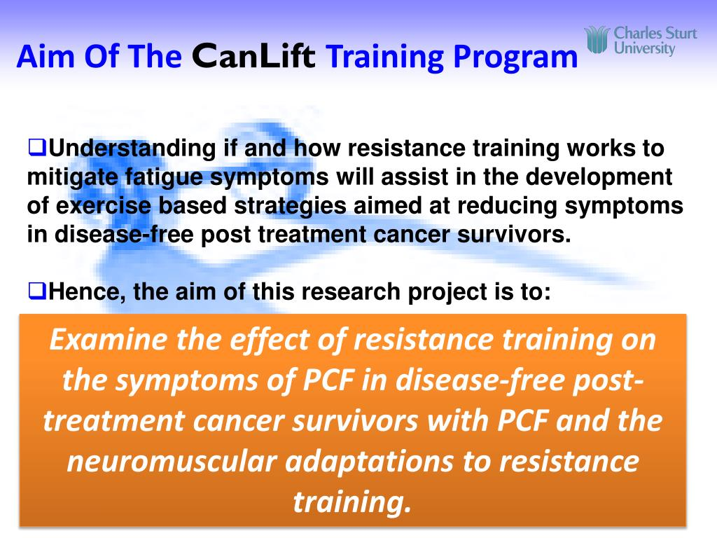 PPT - CanLift Resistance Training Exercise Program for Post