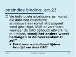 oneindige binding art 23
