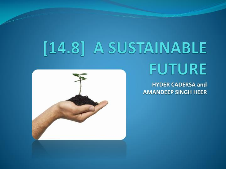 14 8 a sustainable future n.