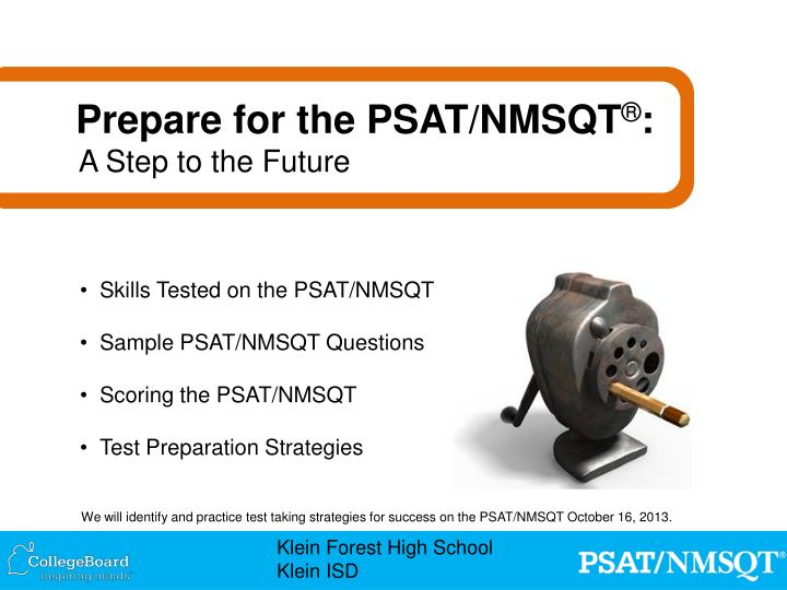PPT - Skills Tested on the PSAT/NMSQT Sample PSAT/NMSQT