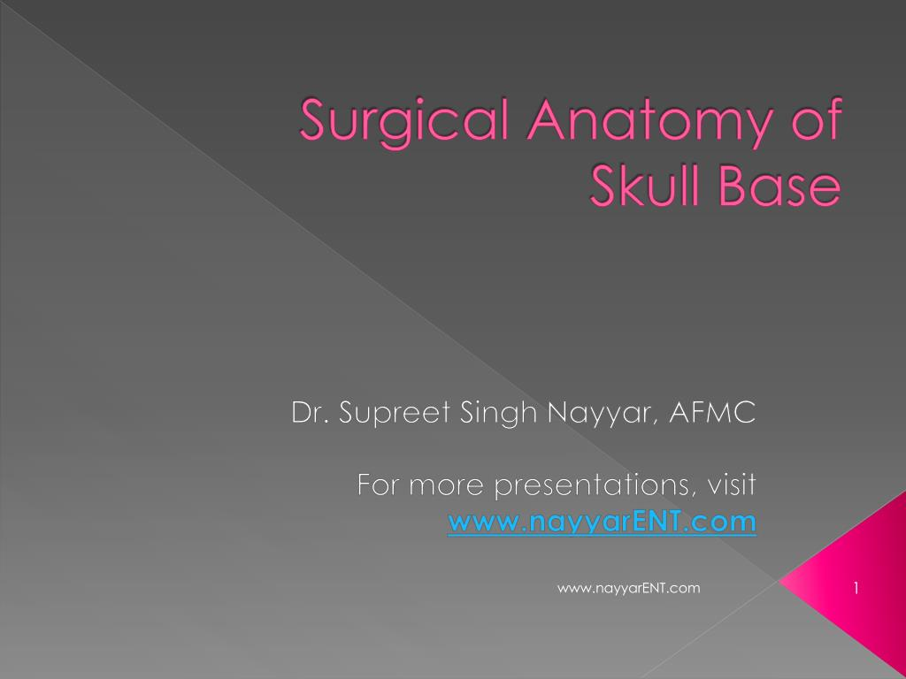 Ppt Surgical Anatomy Of Skull Base Powerpoint Presentation Id