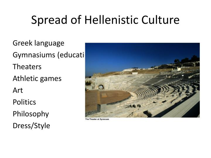 Spread of Hellenistic Culture