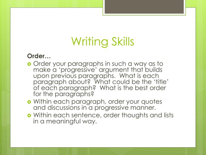 How to write an academic essay ppt