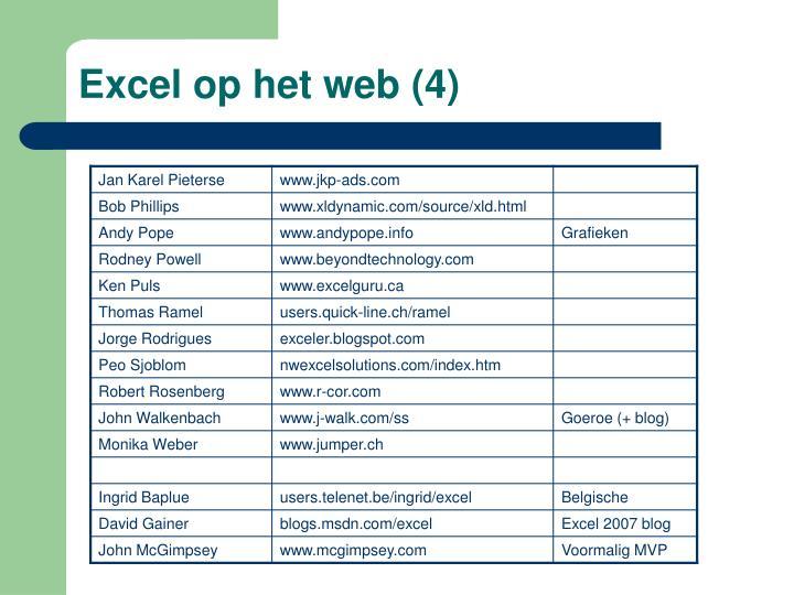 Excel op het web (4)