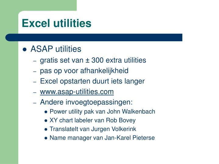 Excel utilities
