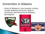 universities in alabama