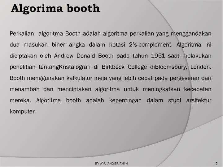 Algorima booth
