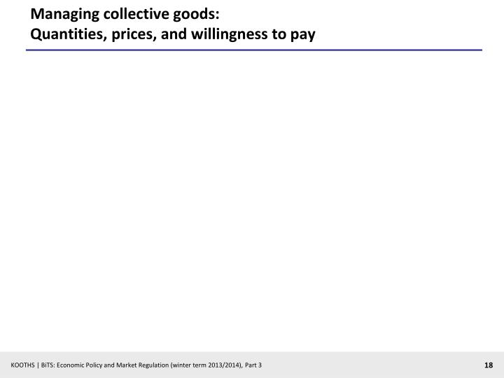 Managing collective goods: