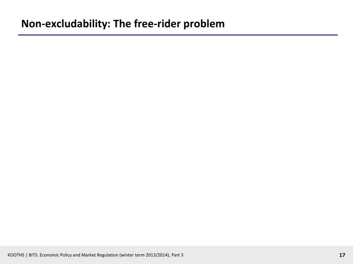 Non-excludability: The free-rider problem