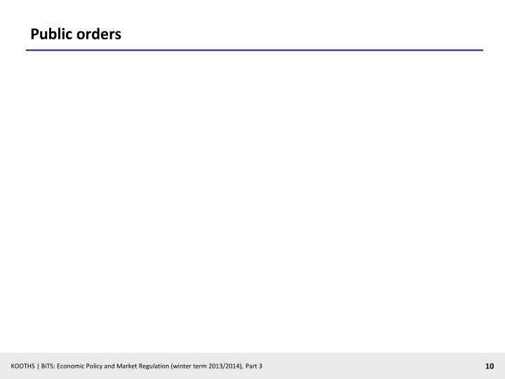 Public orders