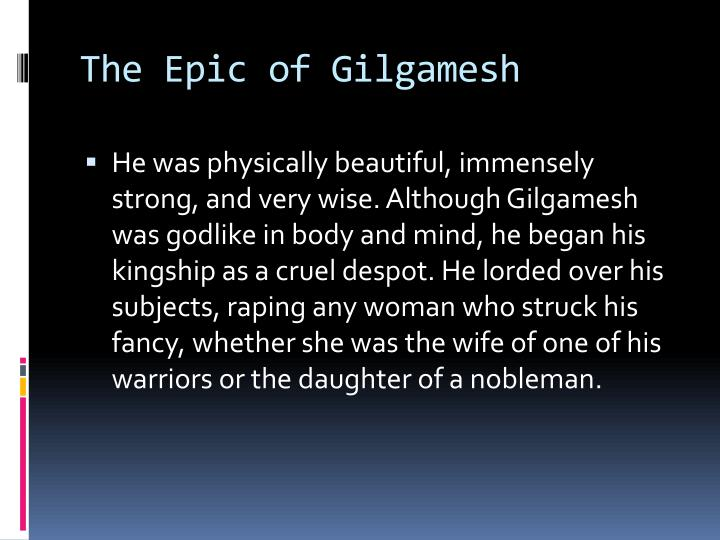 The epic of gilgamesh1