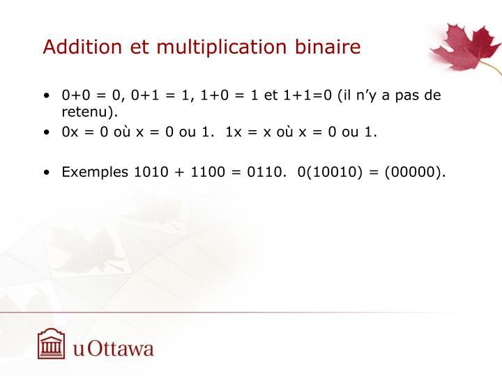 Addition et multiplication