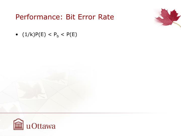 Performance: Bit Error Rate