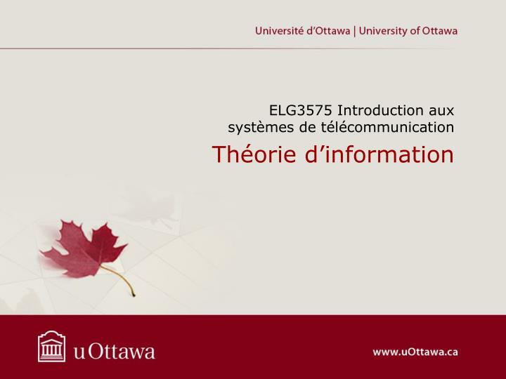 Th orie d information