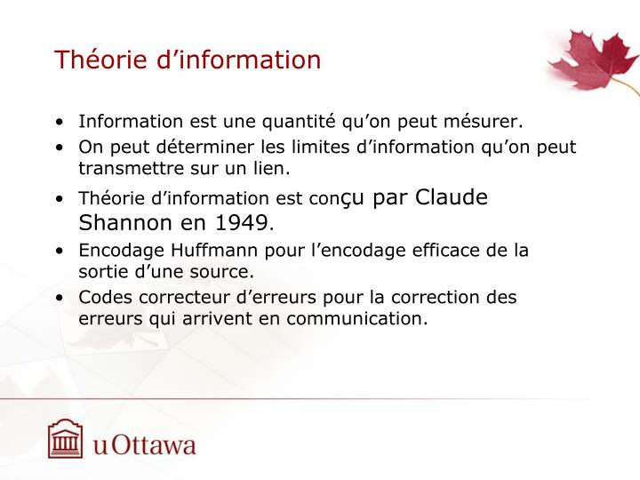 Th orie d information1