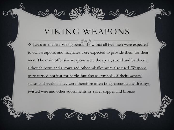 VIKING WEAPONS