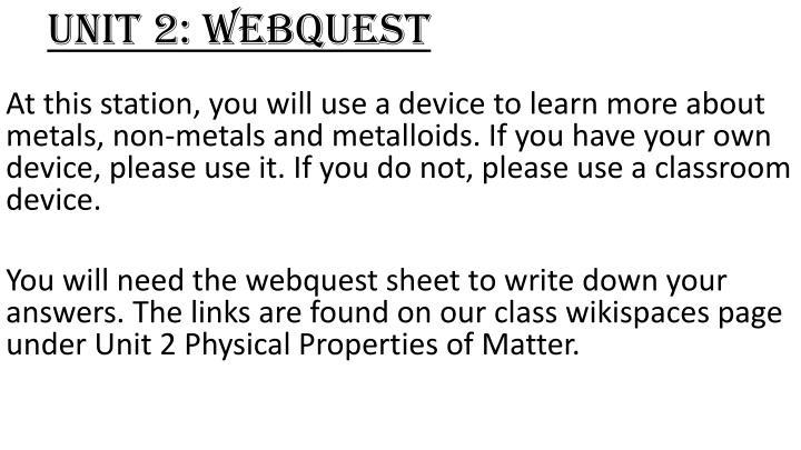 Unit 2 webquest