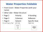 water properties foldable