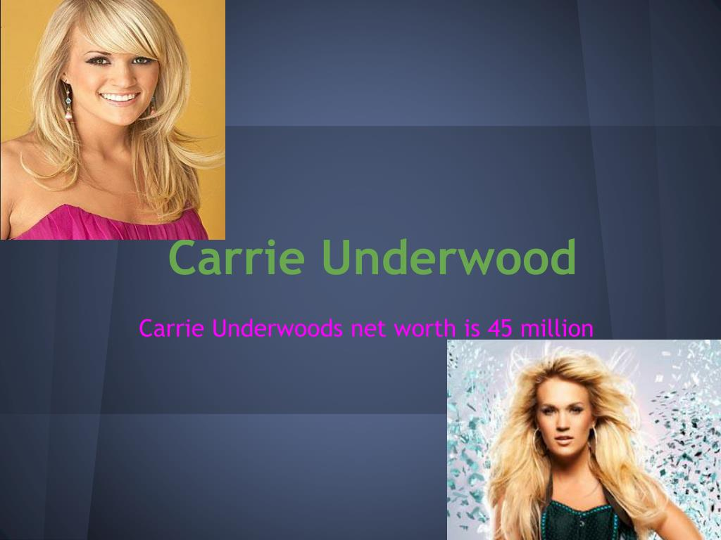 Ppt Carrie Underwood Powerpoint Presentation Free Download Id