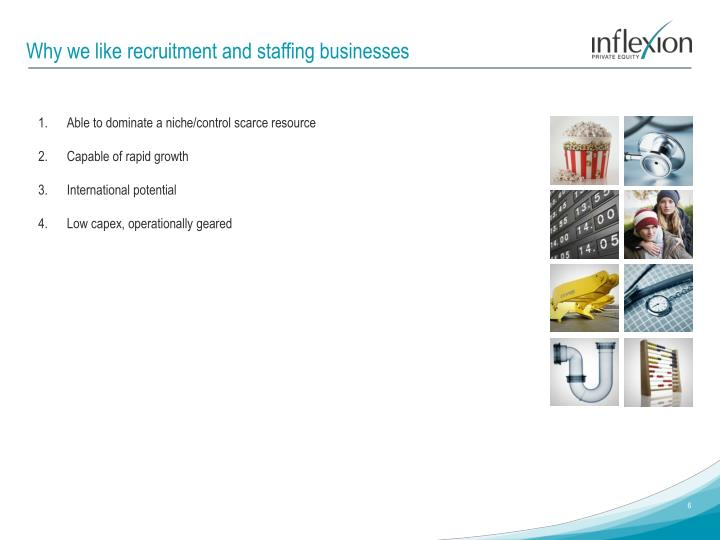 Why we like recruitment and staffing businesses
