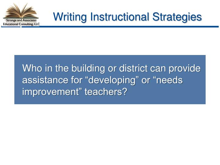 Writing Instructional Strategies