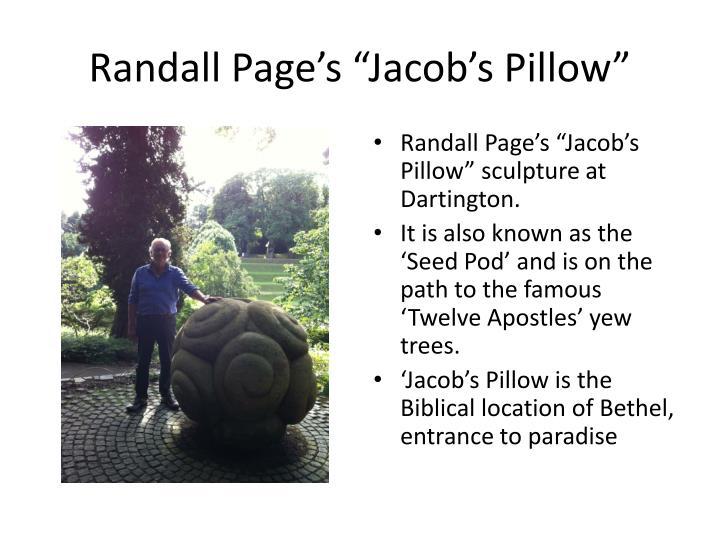 "Randall Page's ""Jacob's Pillow"""