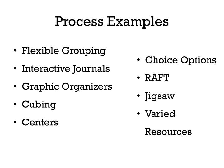 Process Examples