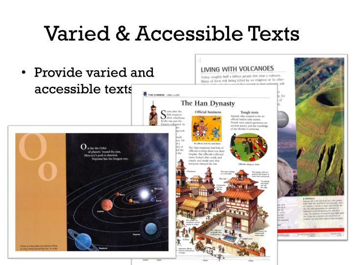 Varied & Accessible Texts