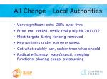 all change local authorities