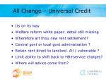 all change universal credit
