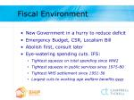 fiscal environment