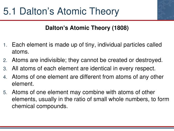 5 1 dalton s atomic theory
