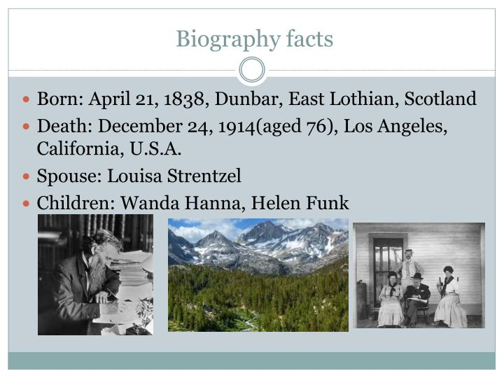 Biography facts