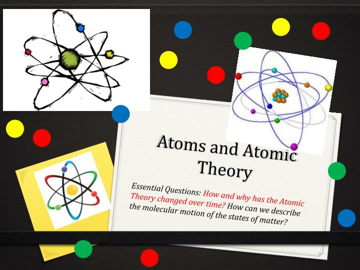atoms and atomic theory n.