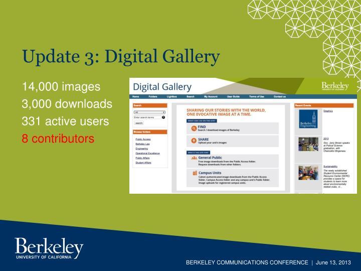Update 3: Digital Gallery