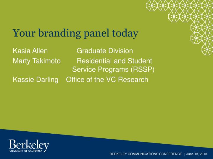 Your branding panel today
