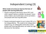 independent living 3