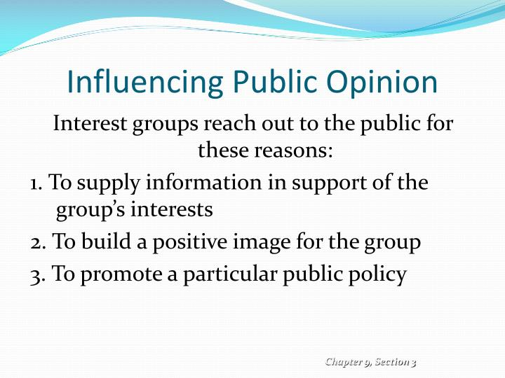the medias influence on public opinion Key words media influence, public opinion, perceptions of media owners, media consumers how significantly do the media affect the formation of public opinion do media producers consider it their responsibility to remain objective and protect the.