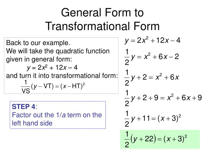 General Form to