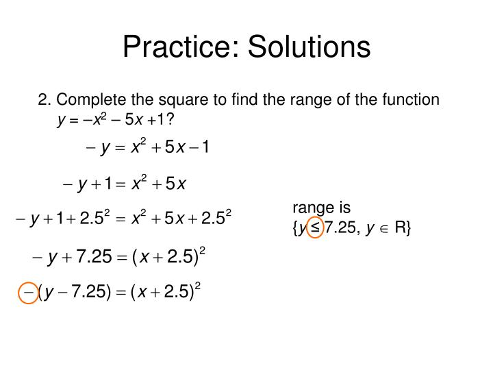 Practice: Solutions