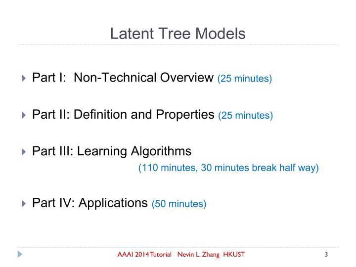 Latent tree models1