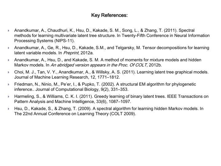 Key References: