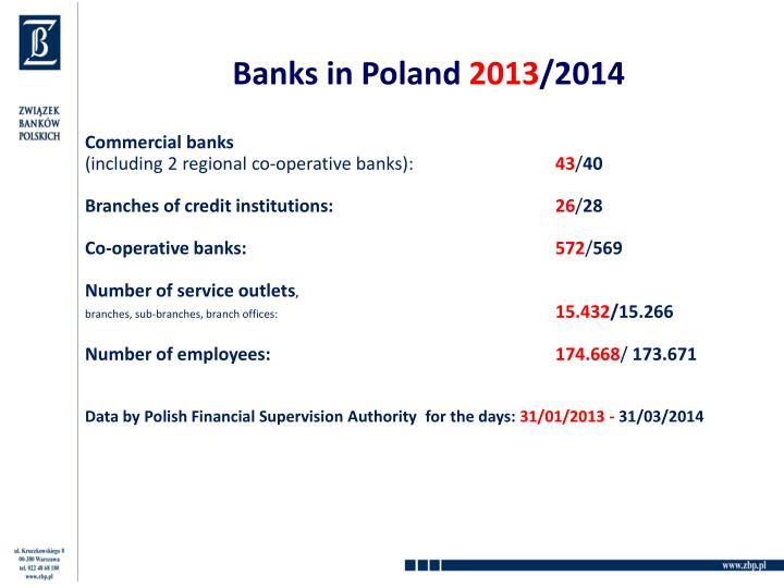 Banks in poland 2013 2014