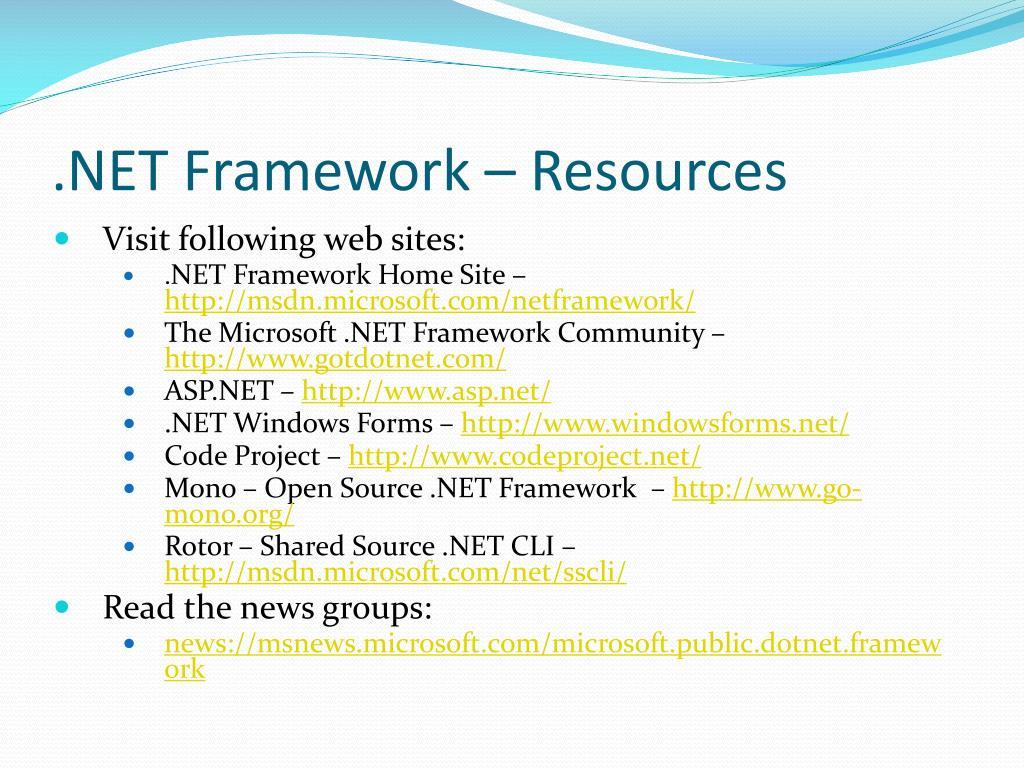 PPT - Microsoft Net Framework PowerPoint Presentation - ID:2052327