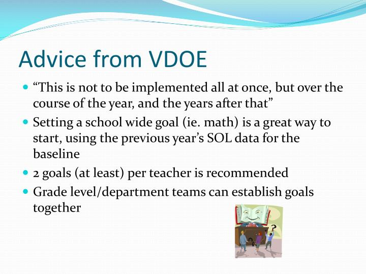 Advice from VDOE