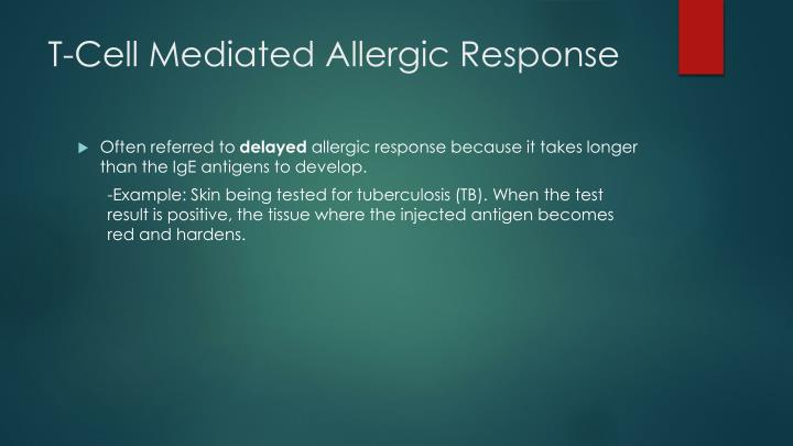 T-Cell Mediated Allergic Response