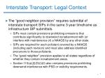 interstate transport legal context