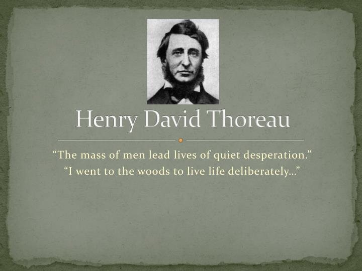 an analysis of henry david thoreau and transcendentalism Thoreau's proposed solution in walden and civil disobedience in henry david thoreau's walden and civil disobedience, a problem is presented in the way in which we live our lives thoreau sees this problem and goes to walden pond to find the solution.
